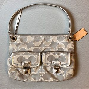 Coach Signature C Silver Bag